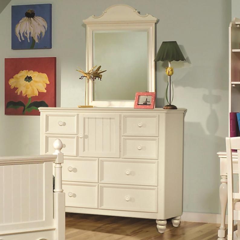 Legacy Classic Kids Summer Breeze Dresser & Mirror Combo - Item Number: 481-0200+1500