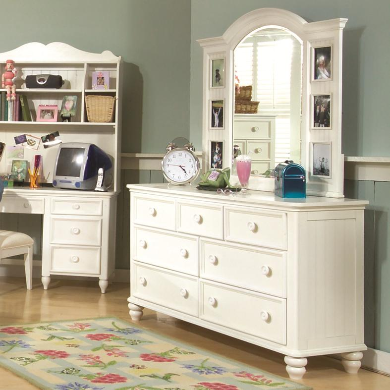 Legacy Classic Kids Summer Breeze Dresser & Mirror Combo - Item Number: 481-1100+0300