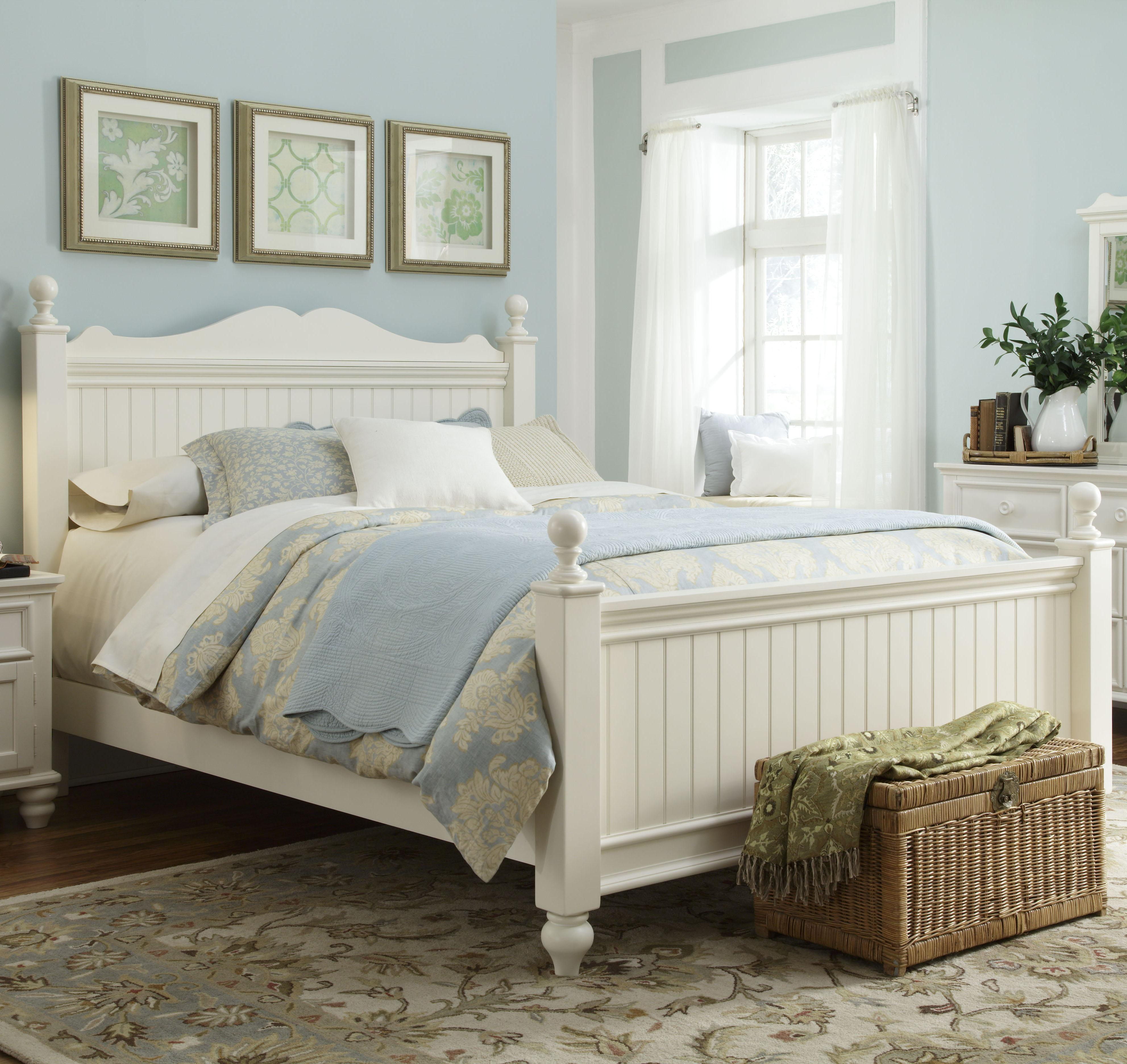 Legacy Classic Kids Summer Breeze Queen Low Poster Bed - Item Number: 481-4205+4215+4901