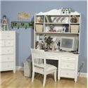 Legacy Classic Kids Summer Breeze Computer Desk & Hutch with 2 Storage Baskets and Open Shelves