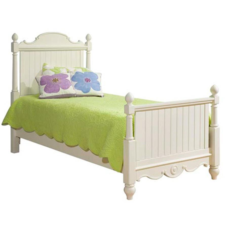 Legacy Classic Kids Summer Breeze Twin Scroll Top Low Poster Bed - Item Number: scrolltopposter-481