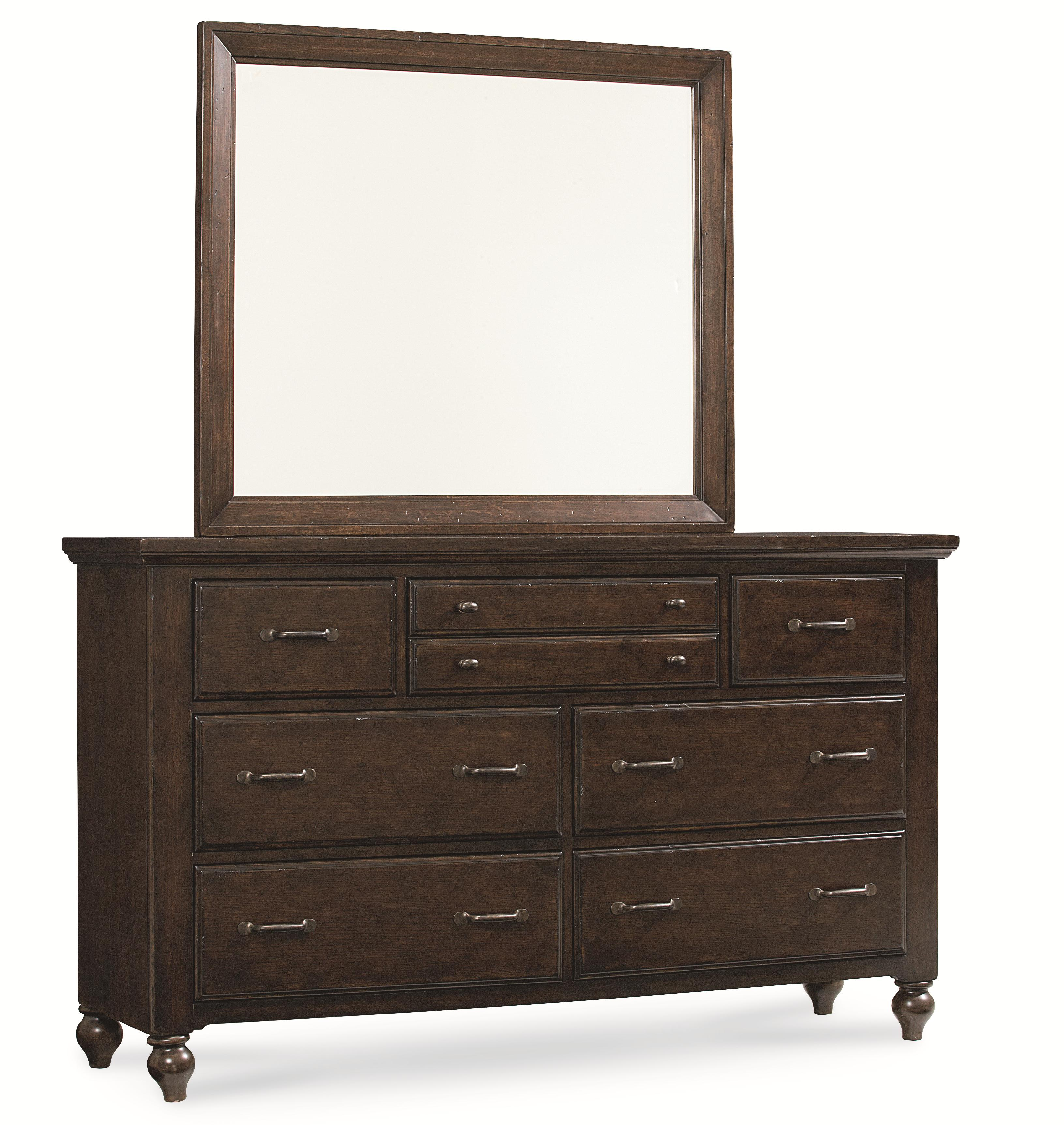Legacy Classic Thatcher Dresser and Mirror Set - Item Number: 3700-1200+0100