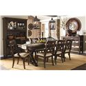 Legacy Classic Thatcher Complete China Cabinet with Mirrored Back and Wine Storage