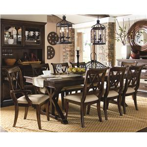 Thatcher 9 Piece Dining Set with X Back Chairs by Legacy Classic