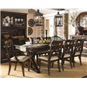 Legacy Classic Thatcher 9 Piece Dining Set with X Back Chairs - 3700-621K+2x141 KD+6x140 KD