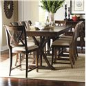 Legacy Classic Thatcher 9 Piece Pub Dining Set - Item Number: 3700-920K+8x945 KD