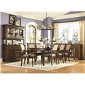 Legacy Classic Thornhill  Rectangular Table with Leg Bottom in Cinnamont Finish with Extension Leaf - 3305-221