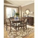Legacy Classic Thornhill  Upholstered Side Chair with Wood Detailed Back - 3305-340 KD