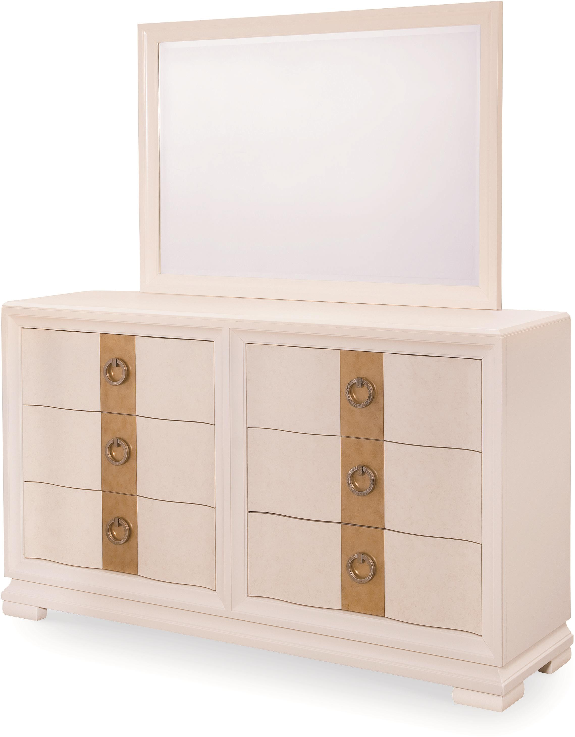 Legacy Classic Tower Suite Dresser and Landscape Mirror - Item Number: 5010-0400+1200