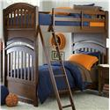 Legacy Classic Kids Academy Twin over Twin Bunk Bed with Arched Ends