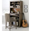 Legacy Classic Kids Big Sky by Wendy Bellissimo Counter Height Desk and Hutch with a Cork Board Back
