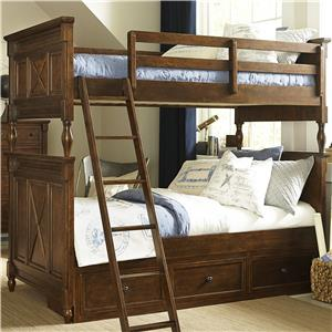 Legacy Classic Kids Big Sur by Wendy Bellissimo Twin over Twin Bunk Bed with Storage