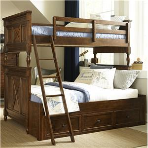 Legacy Classic Kids Big Sur by Wendy Bellissimo Twin over Full Bunk Bed with Storage