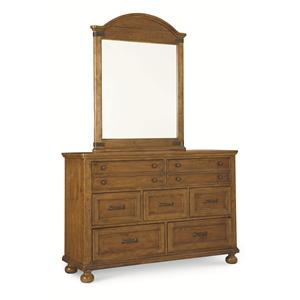 Legacy Classic Kids Bryce Canyon 7 Drawer Dresser and Arched Mirror Set