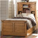 Legacy Classic Kids Bryce Canyon Twin Bookcase Bed with Underbed Trundle or Storage Drawer Unit - Bed Shown May Not Represent Size Indicated