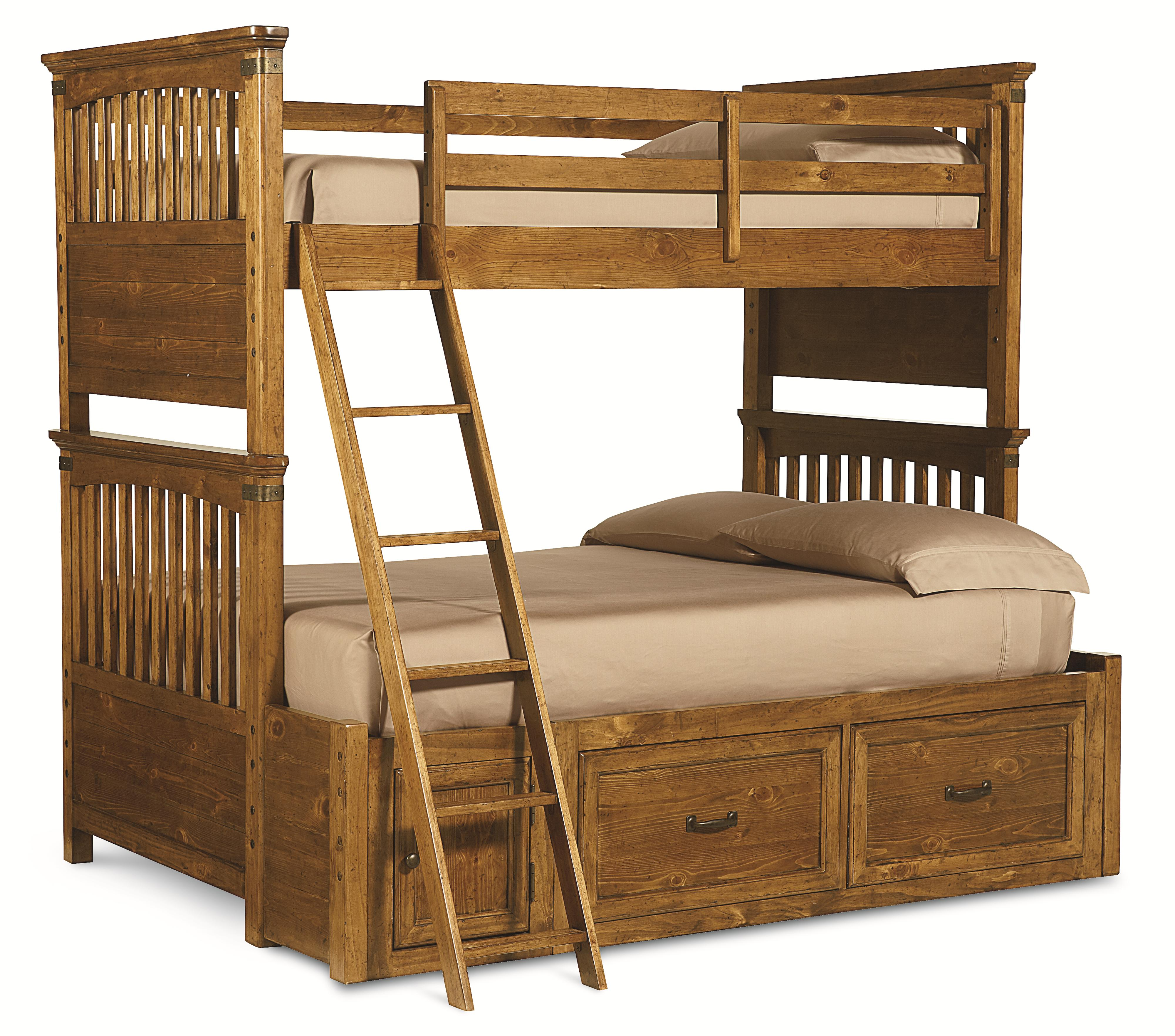 Legacy Classic Kids Bryce Canyon Twin Over Full Bunk Bed with Storage - Item Number: 3900-8140K+9300