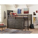 Legacy Classic Kids Bunkhouse Rustic Casual Dresser with Barn Door Style Sides