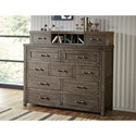 Legacy Classic Kids Bunkhouse Rustic Casual Bureau with Gallery Storage Area