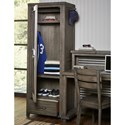 Legacy Classic Kids Bunkhouse Rustic Casual Locker with Coat Hooks and Clothes Rods