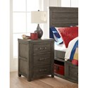 Legacy Classic Kids Bunkhouse Rustic Casual Night Stand with USB Kit