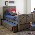 Legacy Classic Kids Bunkhouse Twin Panel Bed with Trundle Storage Drawer - Item Number: 8830-4103K+9500