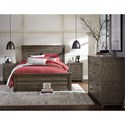 Legacy Classic Kids Bunkhouse Rustic Casual Queen Panel Bed with Wood Paneling