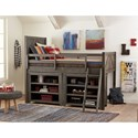Legacy Classic Kids Bunkhouse Rustic Casual Bookcase with Barn Door Style Sides
