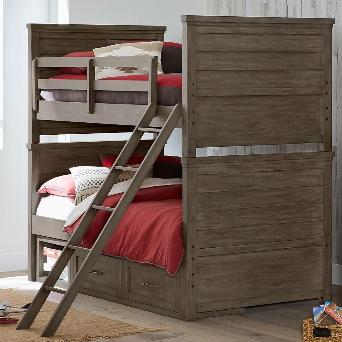 Legacy Classic Kids Bunkhouse Rustic Casual Twin Over Twin