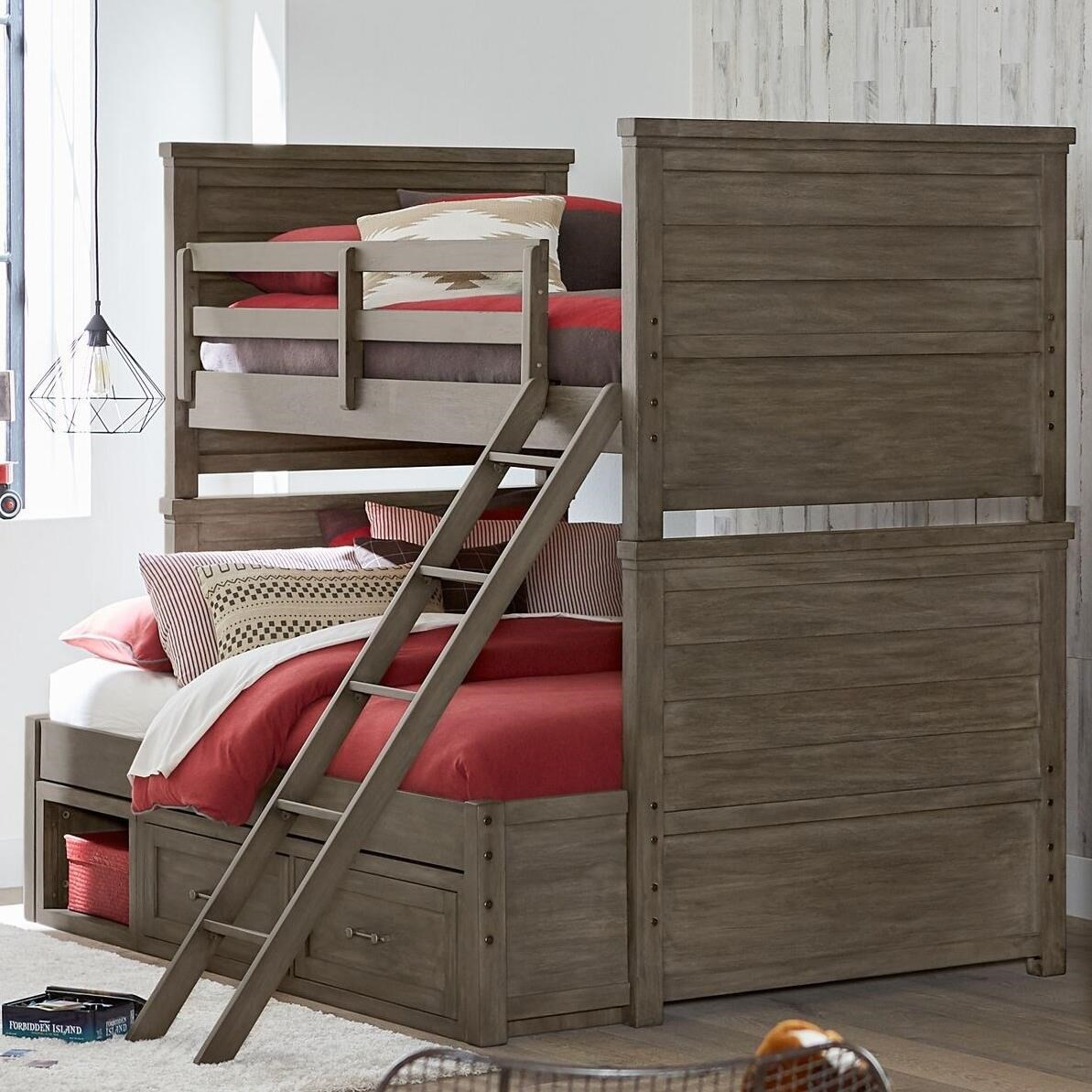 Legacy Classic Kids Bunkhouse Rustic Casual Twin Over Full