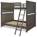 Legacy Classic Kids Bunkhouse Rustic Casual Full over Full Bunk Bed with Ladder and Guard Rails