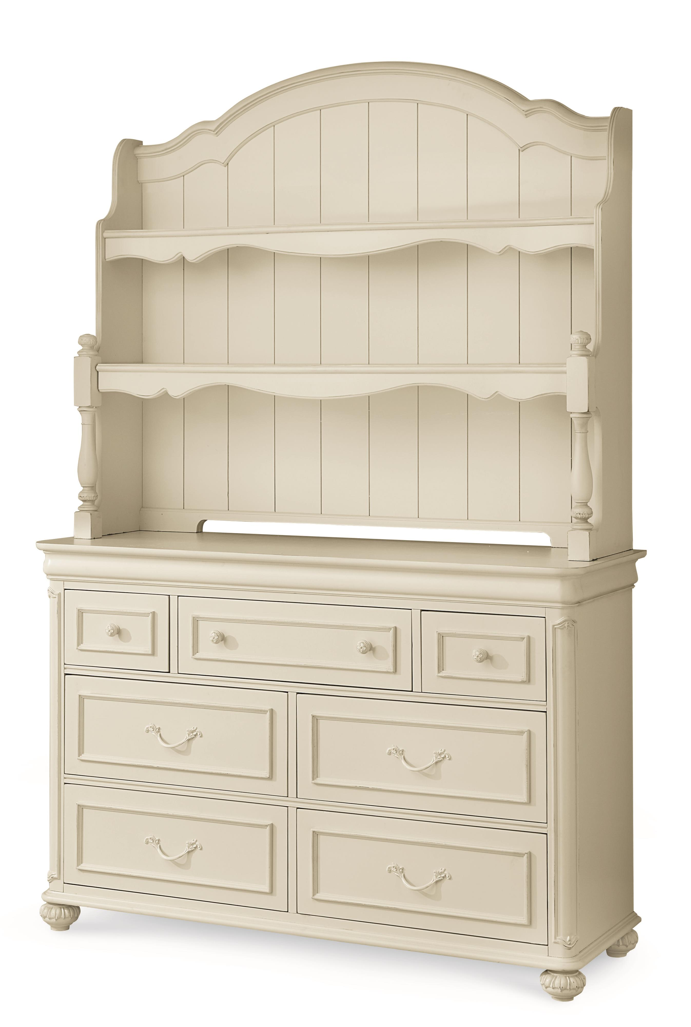 Legacy Classic Kids Charlotte Dresser with Changing Hutch - Item Number: 3850-1100+7201