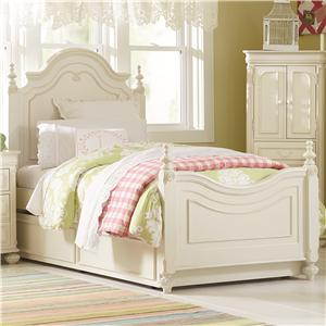 Legacy Classic Kids Charlotte Full Low Poster Bed with Trundle Unit