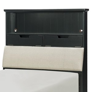 Legacy Classic Kids Crossroads Twin Upholstered Bookcase Headboard