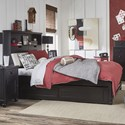 Legacy Classic Kids Crossroads Twin Upholstered Bookcase Bed - Item Number: 7880-4803K+9500