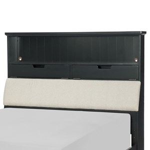 Legacy Classic Kids Crossroads Full Upholstered Bookcase Headboard