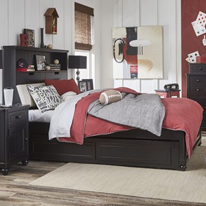 Legacy Classic Kids Crossroads Full Upholstered Bookcase Bed