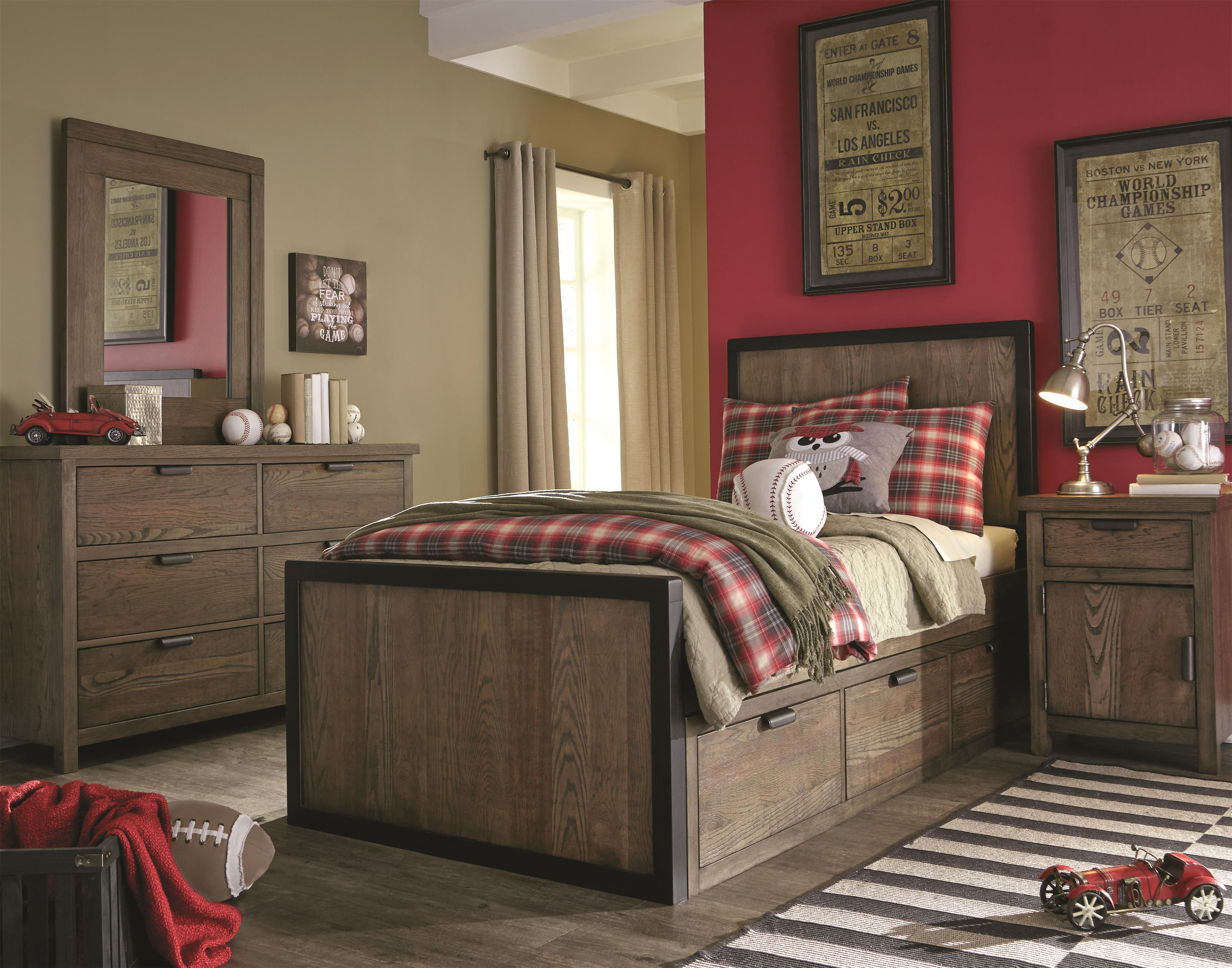Legacy Classic Kids Fulton County Twin Bedroom Group - Item Number: 5900 T Bedroom Group 1