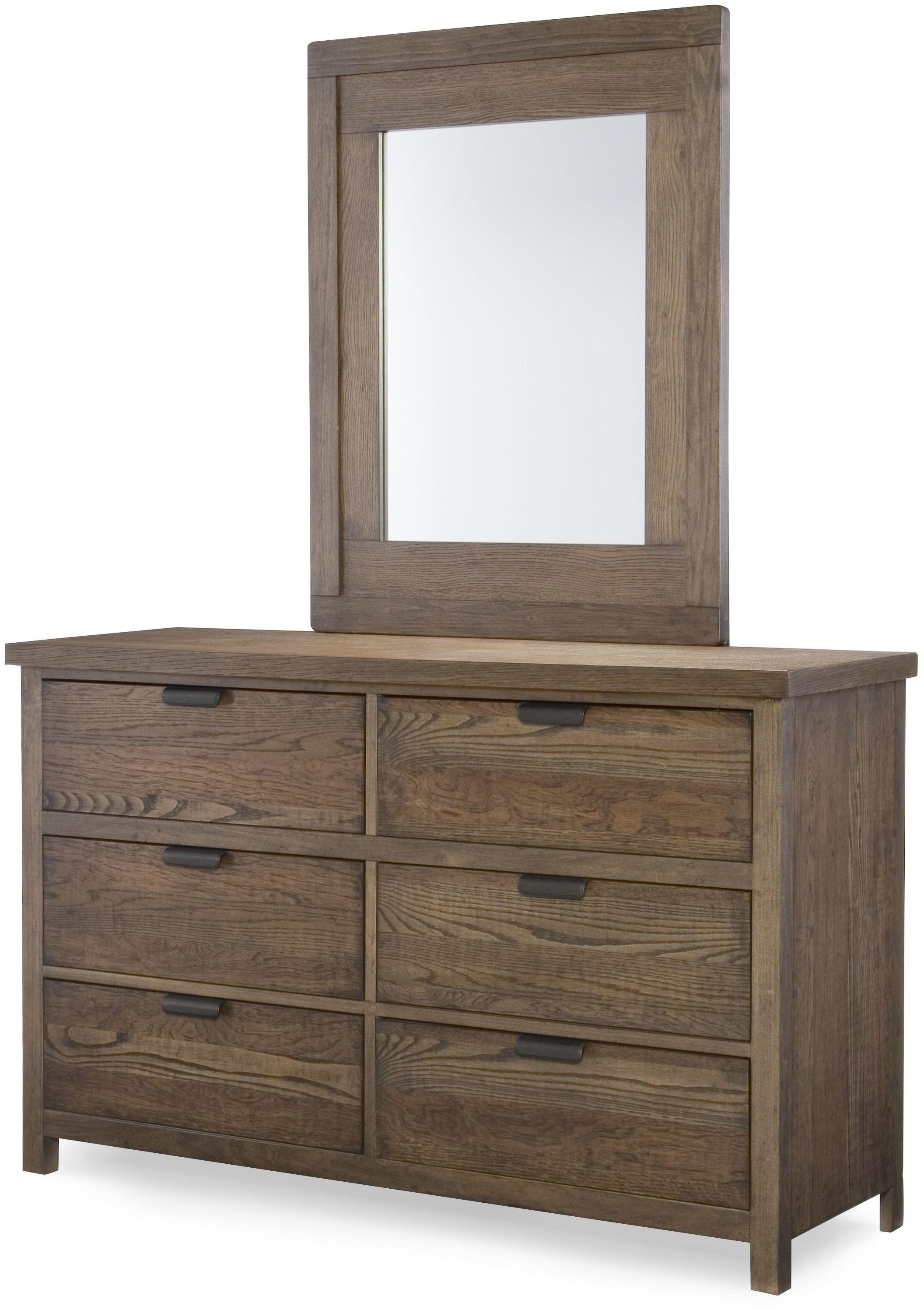 Legacy Classic Kids Fulton County Dresser and Mirror Set - Item Number: 5900-1100+0100