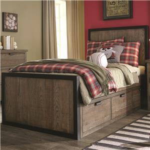 Legacy Classic Kids Fulton County Full Panel Bed with 3 Under Bed Storage Drawers