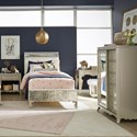 Legacy Classic Kids Glitz and Glam Twin Bedroom Group - Item Number: 8800 T Bedroom Group 3