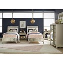 Legacy Classic Kids Glitz and Glam Twin Bedroom Group - Item Number: 8800 T Bedroom Group 4