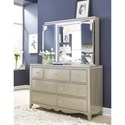 Legacy Classic Kids Glitz and Glam Dresser and Mirror - Item Number: 8800-1100+0700