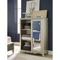 Legacy Classic Kids Glitz and Glam Glam 5 Drawers and 3 Shelf Chest with Sliding Mirror Door