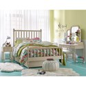 Legacy Classic Kids Grace Cottage Panel Full Bed with Turned Spindle Posts - Bed shown with low profile trundle.