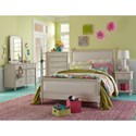 Legacy Classic Kids Grace Cottage Upholstered Full Bed with Turned Spindle Posts