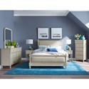 Legacy Classic Kids Grace Cottage Upholstered Queen Bed with Turned Spindle Posts