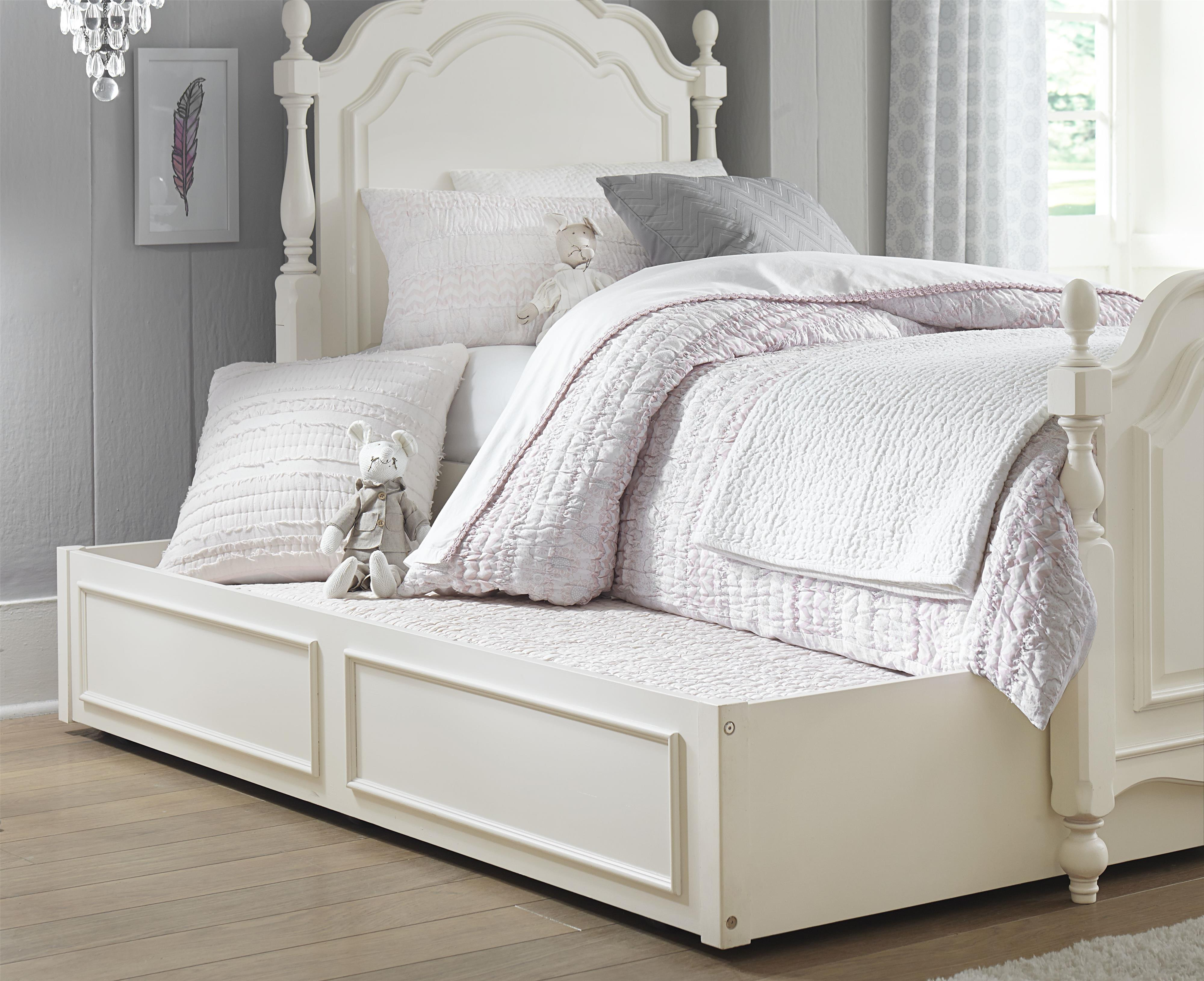 Legacy Classic Kids Harmony Summerset Low Poster Twin Bed with Trundle - Item Number: 4910-4103K+9500