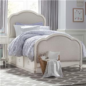 Victoria Upholstered Twin Bed with Storage