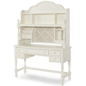 Legacy Classic Kids Harmony Desk and Desk Hutch with 3-Way Touch Light