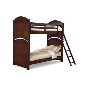 Legacy Classic Kids Impressions Twin Over Twin Wooden Bunk Bed with Arched Cutouts